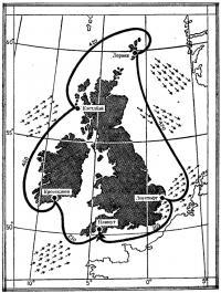 Карта маршрута гонки вокруг Британии