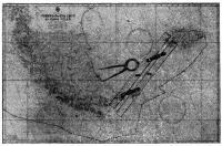 Карта Найоми с прокладкой пути «Экспресс-крусэйдера» вокруг мыса Горн