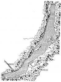 Карта озера Байкал
