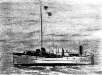 Катер «Детройт» в море