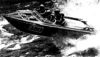 Катер победителя гонок на реке Смоки новозеландца Джона Хеслопа