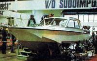 Катер «Волга-70» на подводных крыльях - вид спереди
