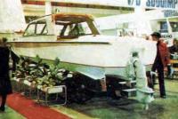 Катер «Волга-70» на подводных крыльях - вид сзади