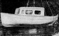 Каютный катер рижанина Н. М. Кожемяко