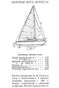 Килевая яхта «Парус-2»