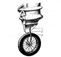 Колесо для перевозки подвесного мотора