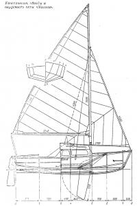 Конструкция, обводы и парусность яхты «Малыш»