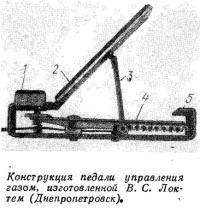 Конструкция педали управления газом