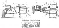 Конструкция подвески боковых колес