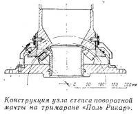 Конструкция узла степса поворотной мачты на тримаране «Поль Рикар»