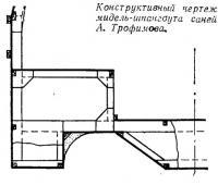 Конструктивный чертеж мидель-шпангоута саней А. Трофимова