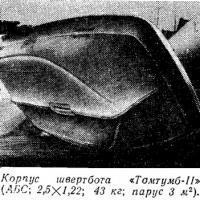 Корпус швертбота «Томтумб-II»