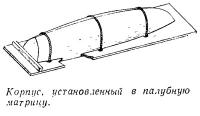 Корпус установленный в палубную матрицу