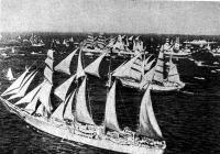 Красивый вид на флотилию