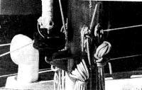 Крепление грота-штага на мачте