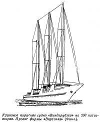 Круизное парусное судно «Виндкруйзер» на 200 пассажиров