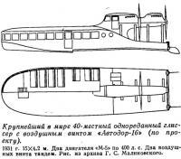 Крупнейший в мире 40-местный однореданный глиссер с воздушным винтом «Автодор-16»