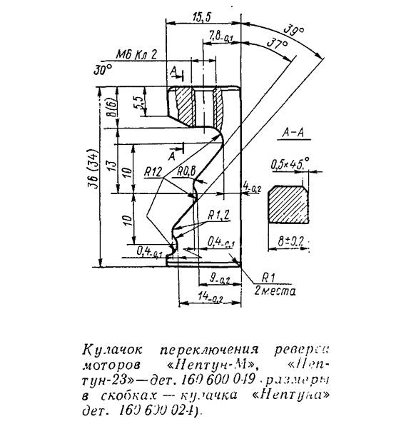 Кулачок переключения реверса моторов «Нептуч-М» и «Нептун-23»