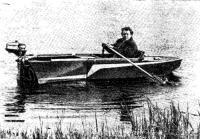 Лодка-мотоколяска на воде