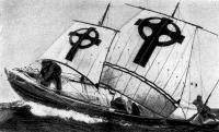 Лодка «Брендан» на ходу