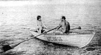 Лодка Фан-дер-Флита с двумя пассажирами