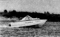 Лодка «Флора-2» на ходу