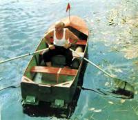 Лодка «Мечта» на веслах