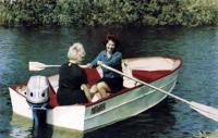 Лодка «Мотылек» с веслами