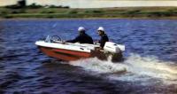 Лодка «Неман» на ходу с мотором
