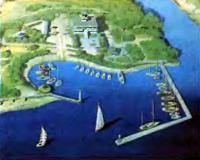 Макет гавани и территории яхт-клуба