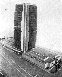 Макет строящейся 28-этажной 800-местной гостиницы «Олимпия»