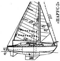 Малая килевая яхта «Парус-2» {по проекту)