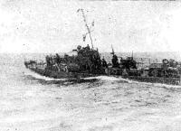 Малый охотник «МО-062» выходит в дозор. Черноморский флот, 1942 г.
