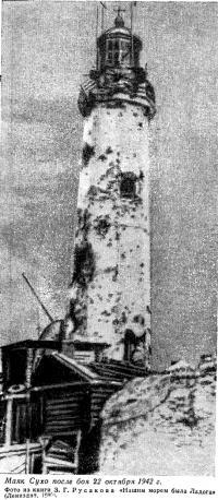 Маяк Сухо после боя 22 октября 1942 года
