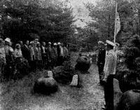 Митинг на о. Мощный (Лавенсаари) у могилы павших воинов-балтийцев