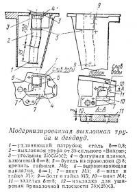 Модернизированная выхлопная труба и дейдвуд