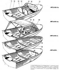 Модификации и устройство лодки «Мотылек»