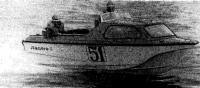 Мотолодка «Ладога-2» на ходу