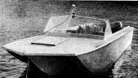Мотолодка ленинградца В. А. Горбачева, построенная по проекту А. С. Ковалева