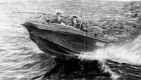 Мотолодка «Нептун-3» на ходу