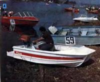 Моторно-парусный катамаран из легкого сплава для автолюбителей