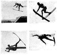 На этих снимках показаны различные варианты неудачных прыжков