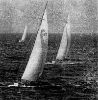 Наиболее острой была борьба в самой многочисленной группе яхт класса Л6