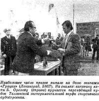 Наибольшее число призов выпало на долю экипажа «Грации» (Ленинград, БМП)