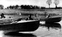 Наши лодки на полном ходу