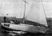Новая яхта «Браво» (РЦЯК, Рига; капитан Ю. К. Озолиньш) — победитель в I зачетной группе