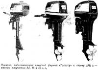 Новинки, подготовленные японской фирмой «Тохатсу» к сезону 1981 г.