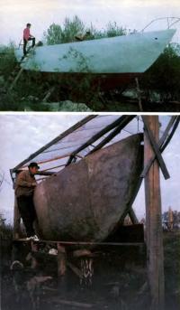 Новые киевские яхты из армоцемента в процессе постройки