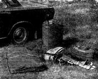 Оба пакета и снаряжение «Ориона-8» в моторном варианте помещаются в багажник «Волги»