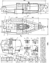 Общее расположение и детали оборудования швертбота